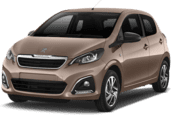 Peugeot 108 3dr A/C, Cheapest offer Olbia Costa Smeralda Airport