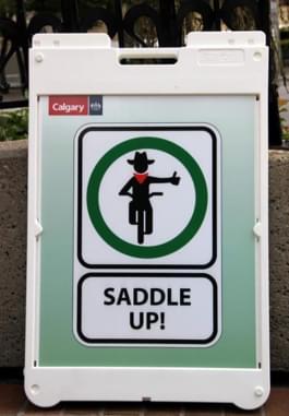 Schild in der Fußgängerzone Kanada