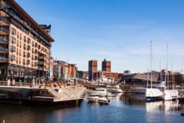 Zona portuaria de Oslo, Noruega