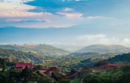 Blick auf die Berge bei San Jose