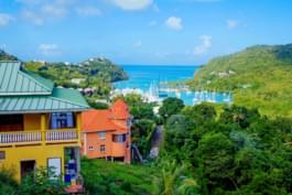 Aussicht St. Lucia, Karibik