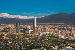 Skyline di Santiago del Cile