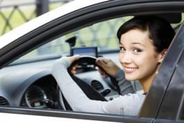 femme voiture location