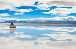 Unterwegs in der Salar de Uyuni, Bolivien