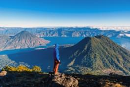 Discover the landscape around Lake Atitlan in Guatemala