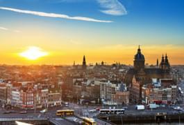 Blick auf Amsterdam