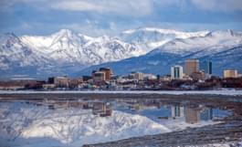 Gezicht op Anchorage, Alaska