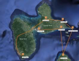 Karte Guadeloupe