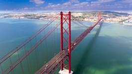 Brücke in Lissabon, Portugal