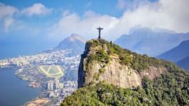 Blick auf Cristo Redentor und Rio de Janeiro