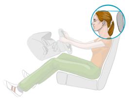Sitzeinstellung im Auto: Kopfstütze