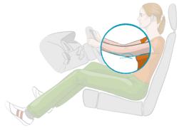 Sitzeinstellung im Auto: Armhaltung