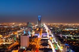 Vista su Riyadh di notte