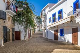 Gassen in Ibiza