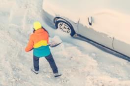 Kehrschaufel Winter Auto