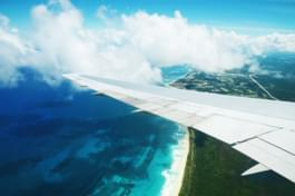 Landing approach at Punta Cana Airport