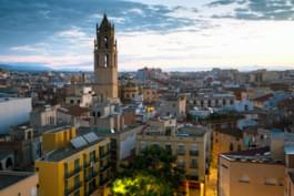 Vista sobre Reus, Cataluña