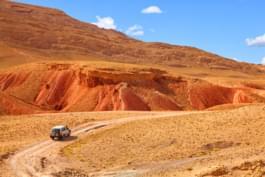 Moroccan desert by rental car