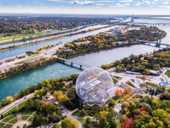 vue aérienne montréal canada