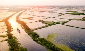 Sonnenuntergang in Bangladesch