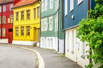 Coloured houses in Oslo