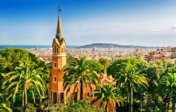 Sicht über Barcelona