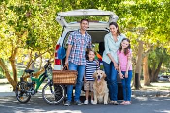 Famiglia in macchina
