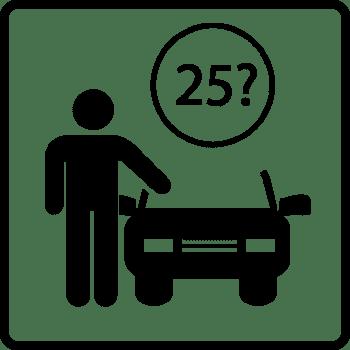Mindestalter für Mietwagen in den USA