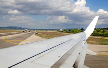 Vliegtuig op Mallorca Airport (PMI)