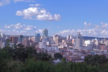 Blick über Harare