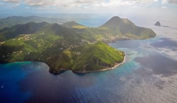 vue aérienne Martinique île