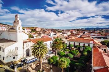 Blick auf die Kolonialstadt Sucre