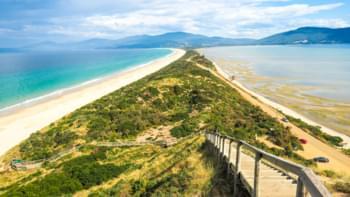 Landzunge auf Bruny Island, Tasmanien