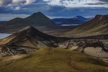 Paesaggio vulcanico in Islanda