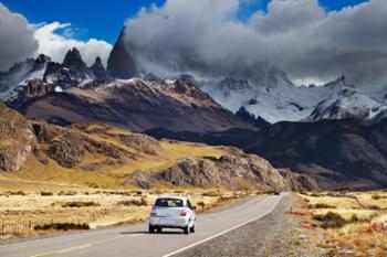 With your hireal car through Patagonia