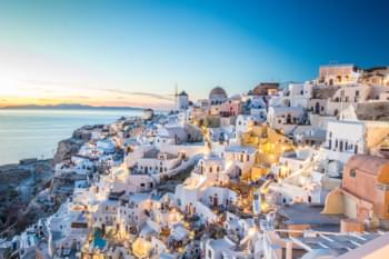 Sonnenuntergang in Santorin, Griechenland