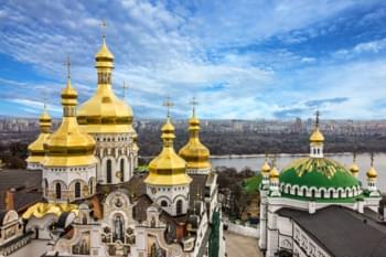 Panoramasicht Kiew, Ukraine