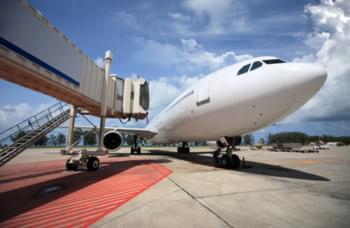 Ankommendes Flugzeug