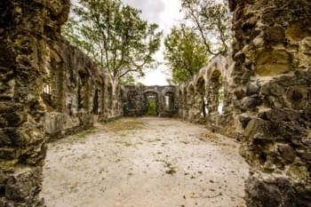 Ruins on Pigeon Island