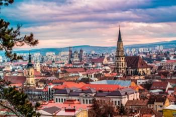 Vista su Cluj, Romania