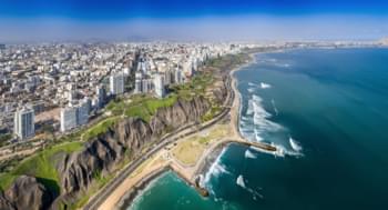 Blick über Lima, Peru
