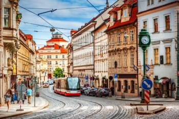 In the streets of Prague, Czech Republic