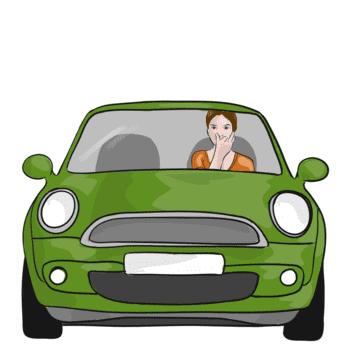 Nasenatmung im Auto