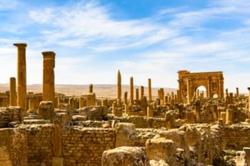 Ruins in Timgad, Algeria