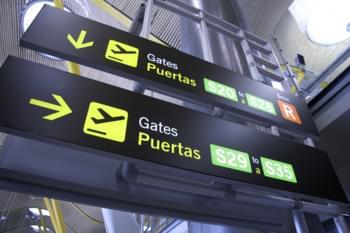 Segnaletica all'aeroporto Tenerife Sud