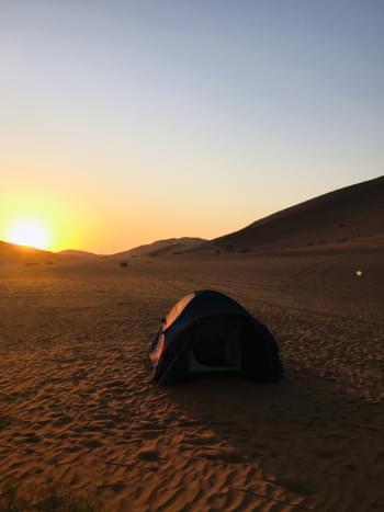 Sonnenuntergang Wüste Oman