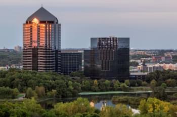 Blick auf Bloomington, Minnesota