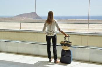 Girl at the airport Tenerife