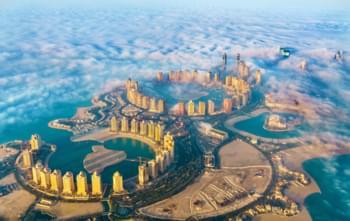 View over Qatar Island in Doha