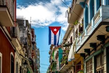 Straße Havana Flagge
